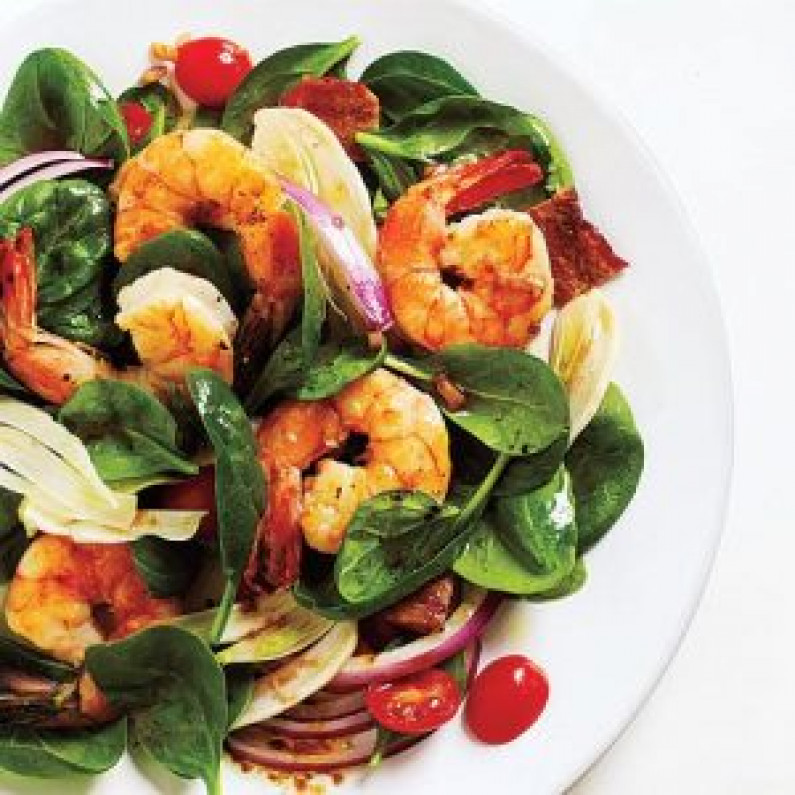 Prawn spinach and fennel salad 300x300